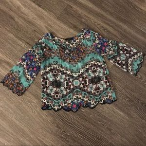 Jessica Simpson Patterned Sheer Blouse